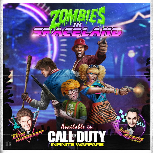 Call of Duty Infinite Warfare Zombies Zombies in Spaceland постер