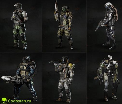 Специалисты Call of Duty Infinite Warfare