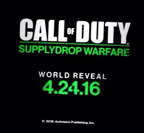 Call of Duty supply drop warfare